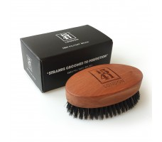 Military Hair Brush with Pure Black Bristle