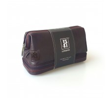 Framed Top Zip Washbag (Dark Brown)