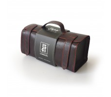 Large Barrel Washbag (Dark Brown)