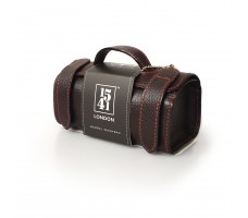 Small Barrel Washbag (Dark Brown)