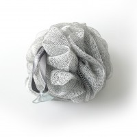 Exfoliating Bath & Shower Body Puff / Buffer (Silver Grey)
