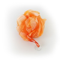 Exfoliating Bath & Shower Body Puff / Buffer (Tangerine Orange)