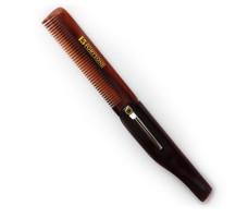 Folding Pocket Hair & Beard Comb with Clip