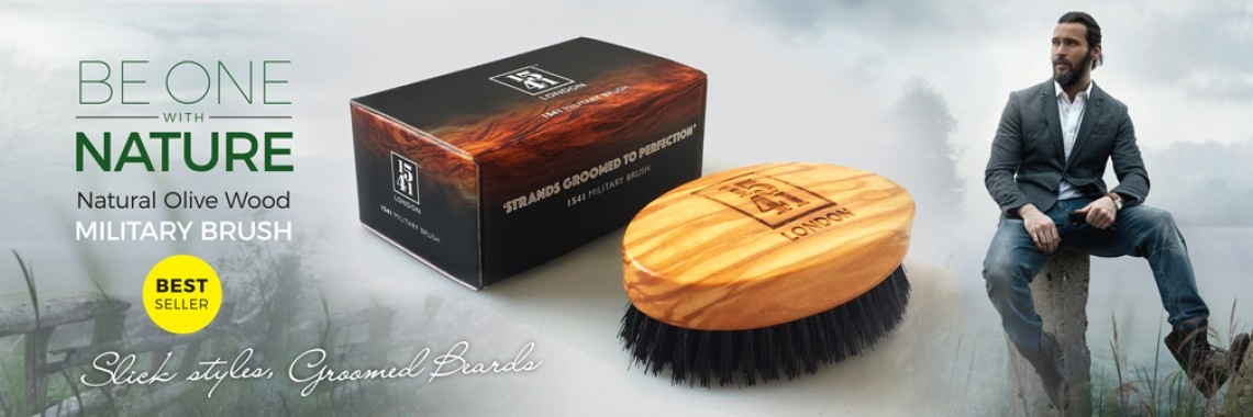 Olive Wood Military Brush
